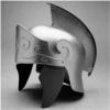 Silver Roman Helmet Hat